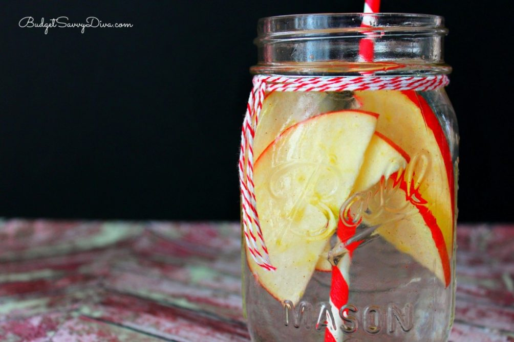 Apple Detox Infused Water Recipe @ Budget Savvy Diva