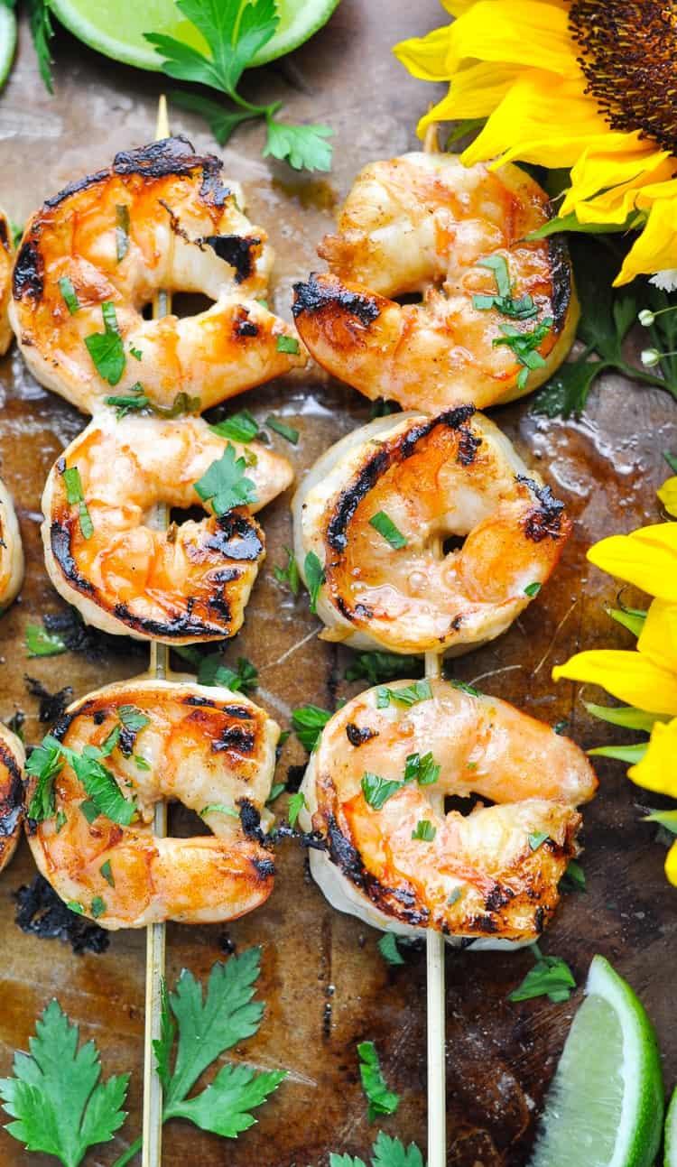 Marinated Grilled Shrimp @ The Seasoned Mom