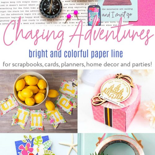 Chasing Adventures Bright and Colorful Paper line is now in Spotlight Stores in Australia! Record special moments and adventures both near and far!