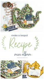 Teapot Recipe Mini Album – Handmade Gift Idea!