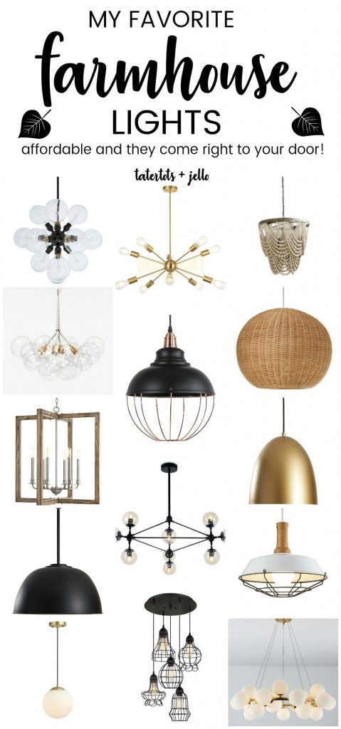 The BEST Affordable Modern Farmhouse Lights. Add a modern vibe to your cottage or farmhouse with these stylish and affordable lights that will come right to your home.