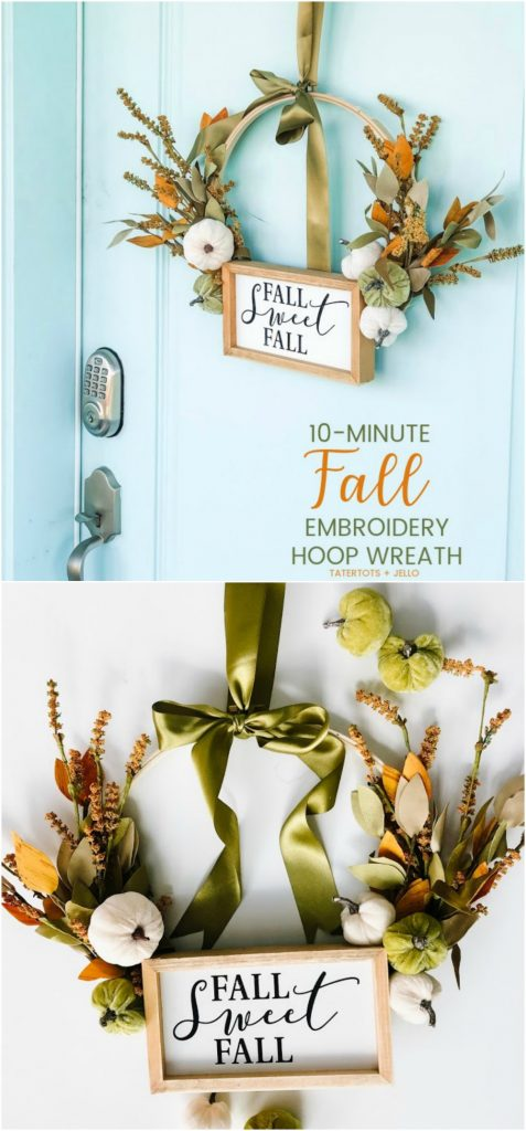 Make A Fall Embroidery Hoop Wreath Tatertots And Jello
