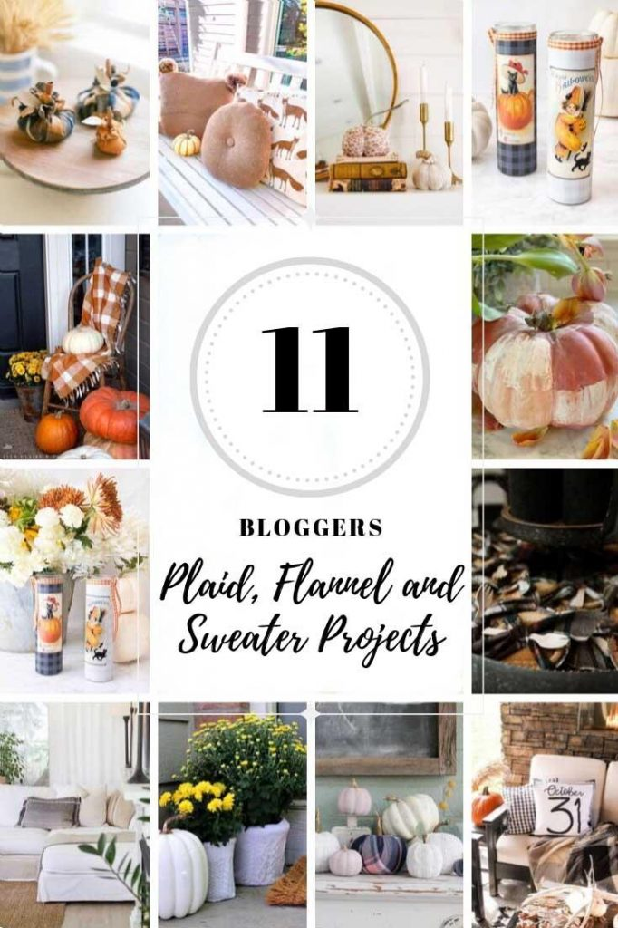 11 warm and cozy fall projects using plaid, flannel or sweaters