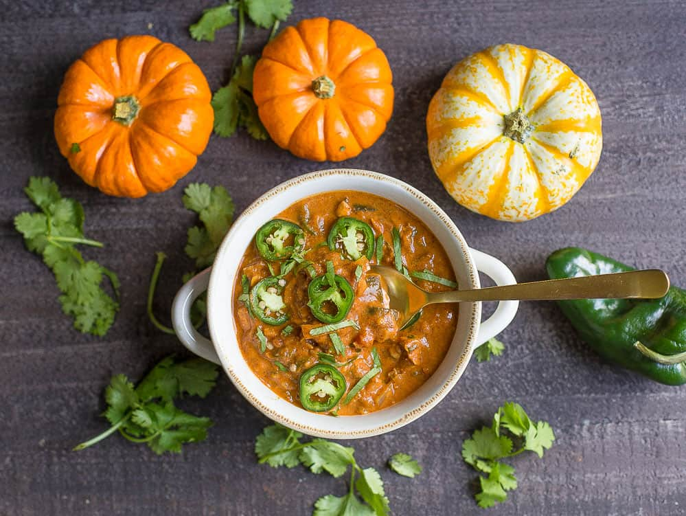 Creamy Pumpkin Chicken Chili @ Wholesomelicious