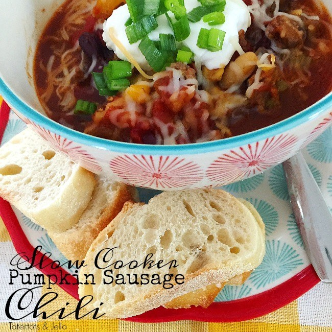 Creamy Pumpkin and Sausage Slow Cooker Chili