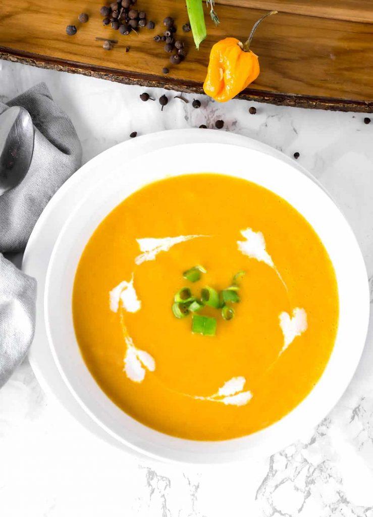 Pureed Jamaican Pumpkin Soup @ Healthier Steps