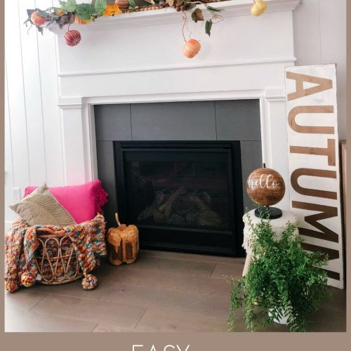 How to create a fall mantel two ways! Take some of your favorite fall items and repurpose them in new ways to change up your fall mantel each year!