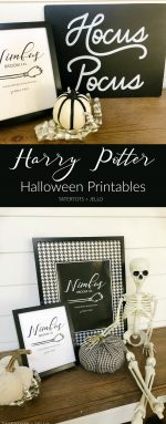 Harry Potter Nimbus Broom Free Halloween Printables
