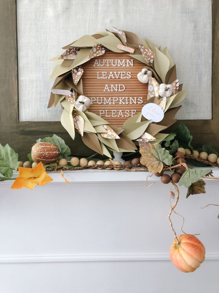 How to create a fall mantel two ways! Take some of your favorite fall items and use them in new ways to change up your fall mantel each year!
