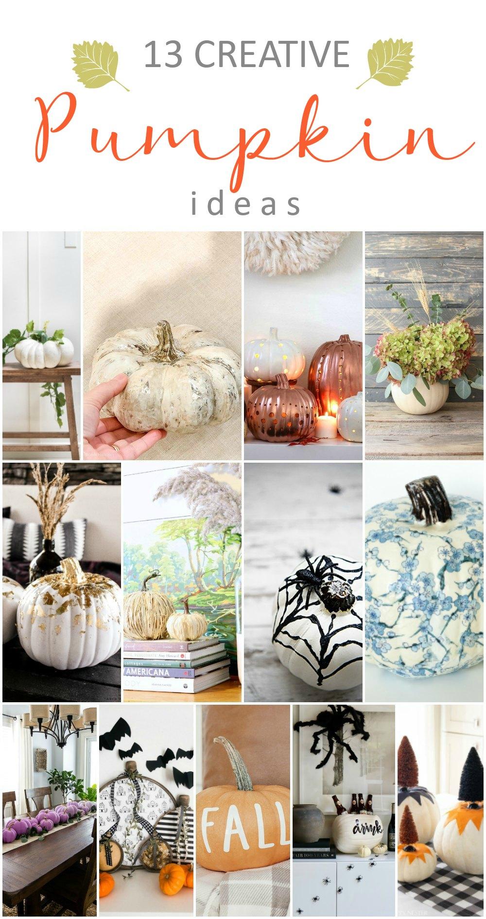 13 creative pumpkin ideas