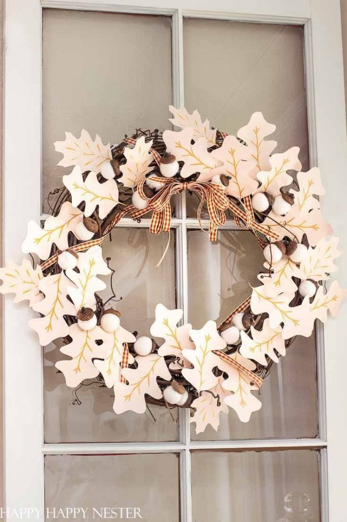 DIY Fall Wreath @ Happy Happy Nester