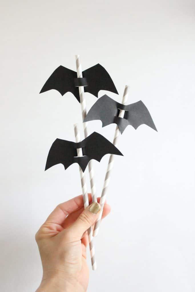 DIY Halloween Straw Toppers @ Delia Creates