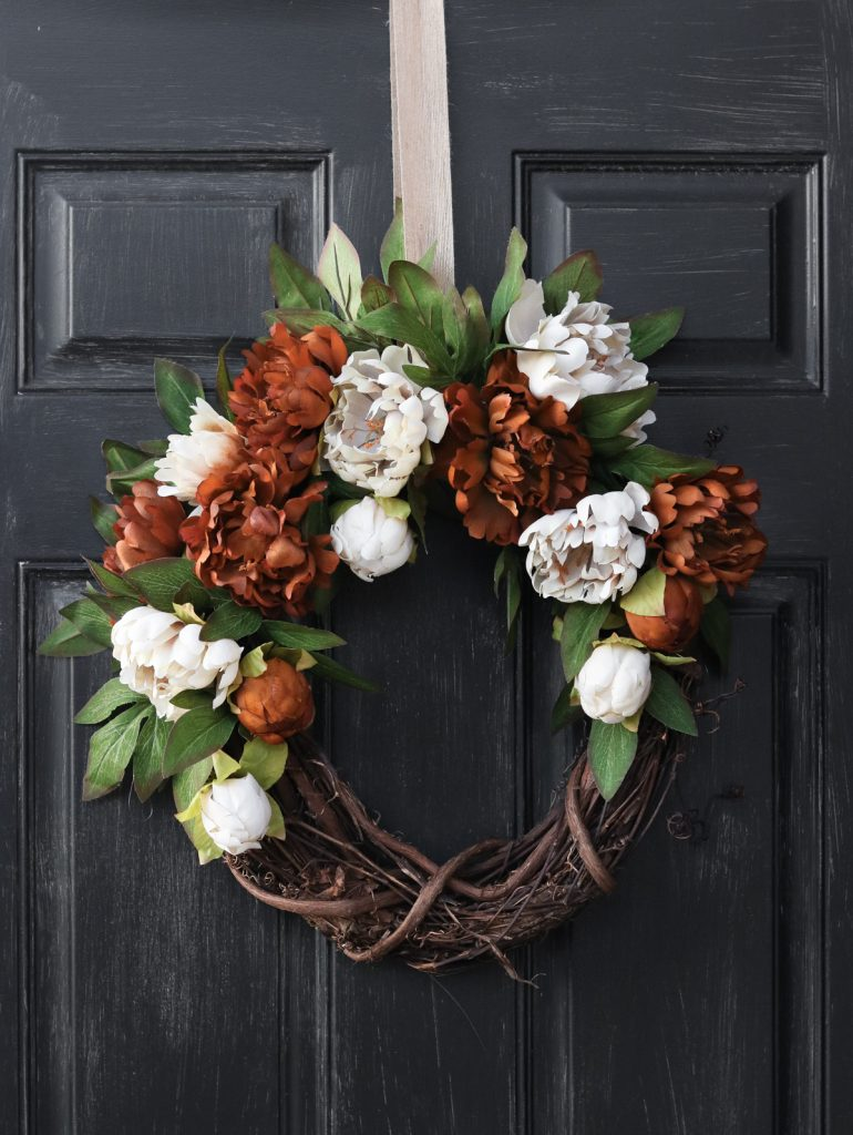 DIY Peony Fall Wreath @ Lily Ardor