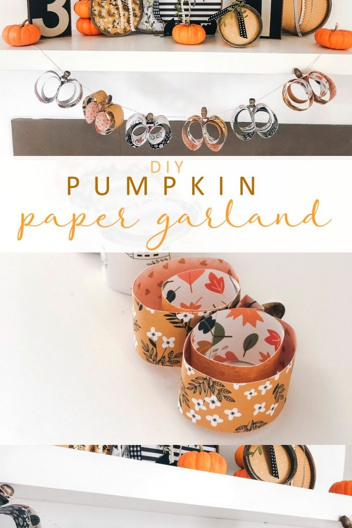 Easy Pumpkin-Shaped Paper Garland