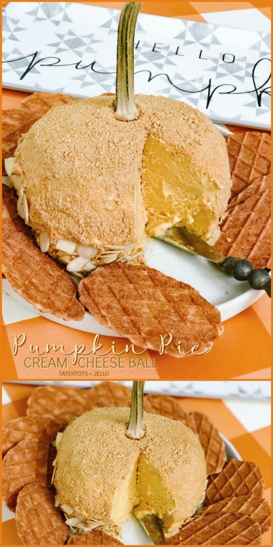 Pumpkin Pie Sweet Cream Cheese Ball is the perfect fall dessert!