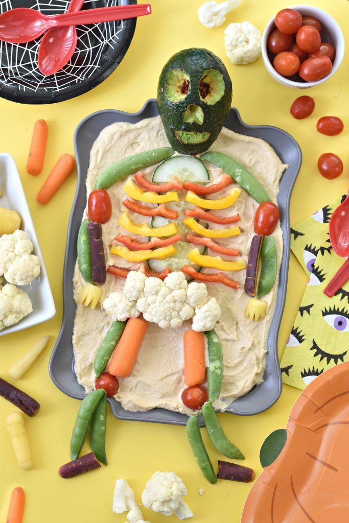 Skeleton Veggie Platter @ Fork And Beans