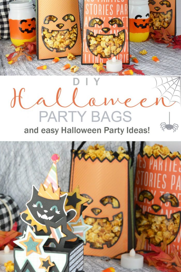 DIY Halloween Pumpkin Paper Party Bags