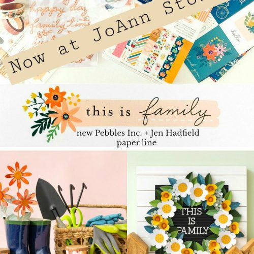 My new paper line, This Is Family, now at JoAnn Stores! This Is Family line celebrates all of the traditions and activities we love doing with the people we love. You can find it now at JoAnn Stores and online!
