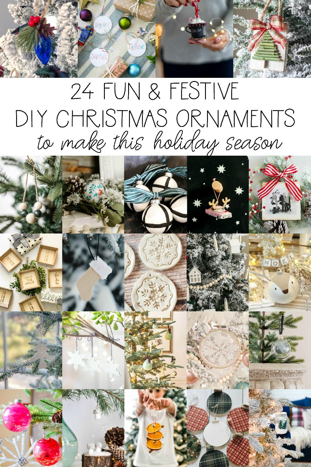 24 fun and festive DIY Christmas ornaments