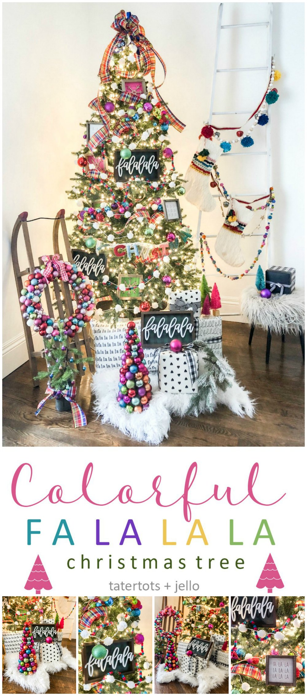 How To Create A Colorful Christmas Tree Falalala Theme
