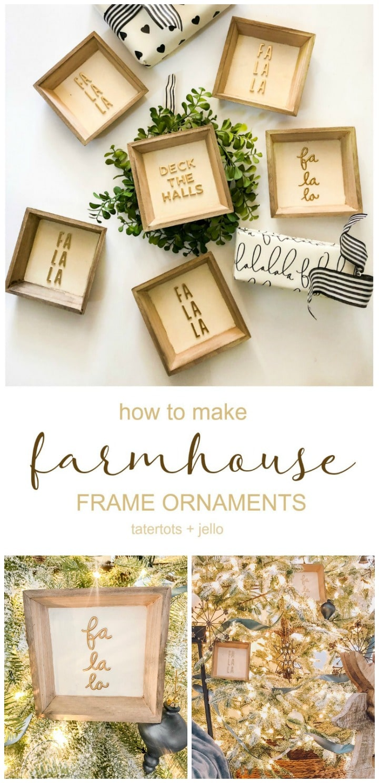 Farmhouse Christmas Sign Ornaments And 24 Diy Ornament Ideas