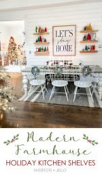 Holiday Kitchen Shelves