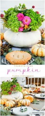 How to Make a Live Pumpkin Floral Centerpiece