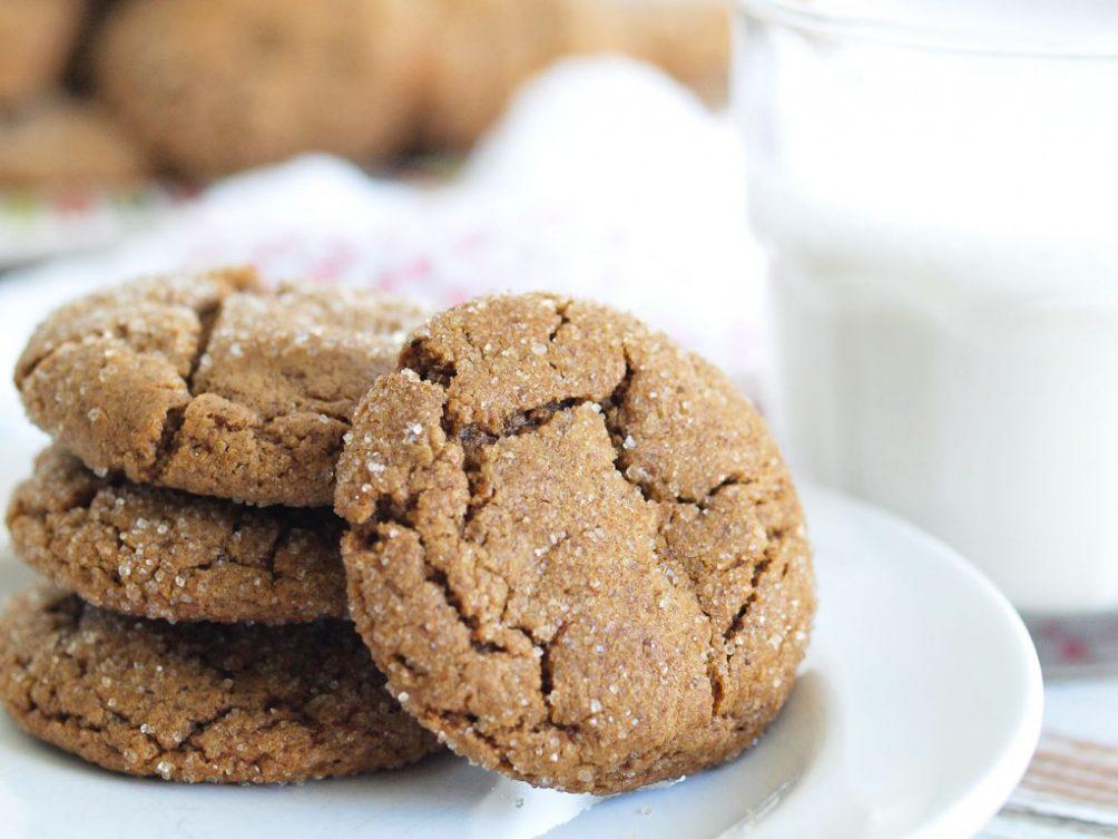 Healthy Ginger Cookies @ Happy Healthy Mama