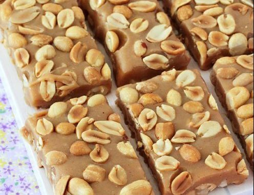No-Bake Payday Nut Squares @ Skinny Recipes