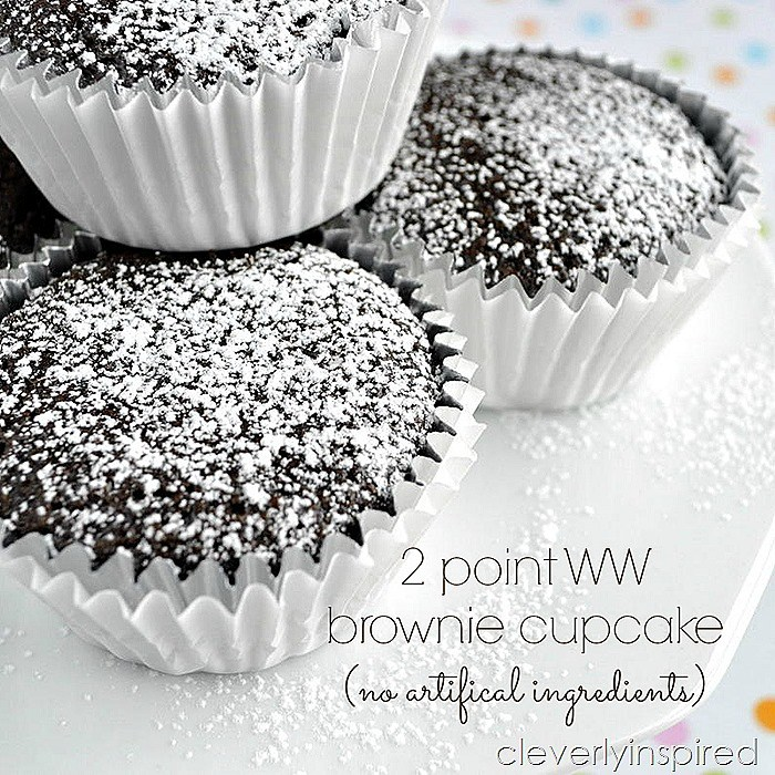 Weight Watchers Brownie Cupcakes - 2 Points
