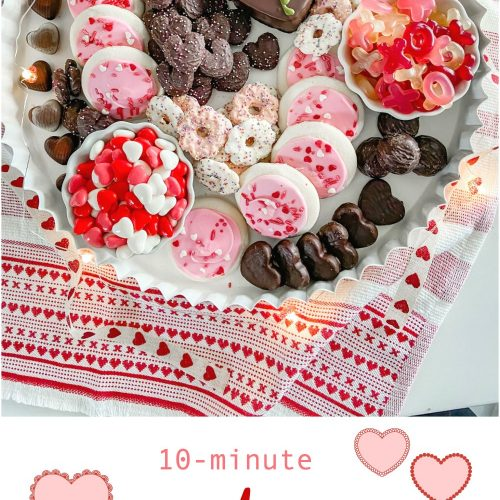 210-minute valentine's sweetheart charcuterie board. Delight your loved ones with a sweet take on the traditional charcuterie board by creating a sweetheart dessert board in just 10 minutes.