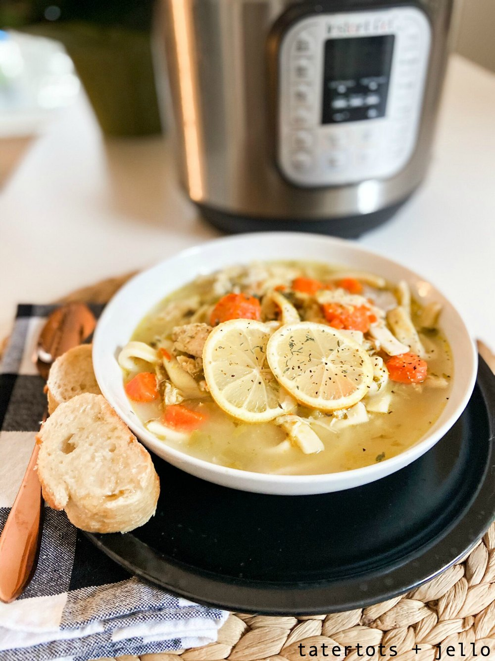 The best Instant Pot homemade chicken noodle soup! Just like Grandma makes with homemade noodles and ready in minutes!