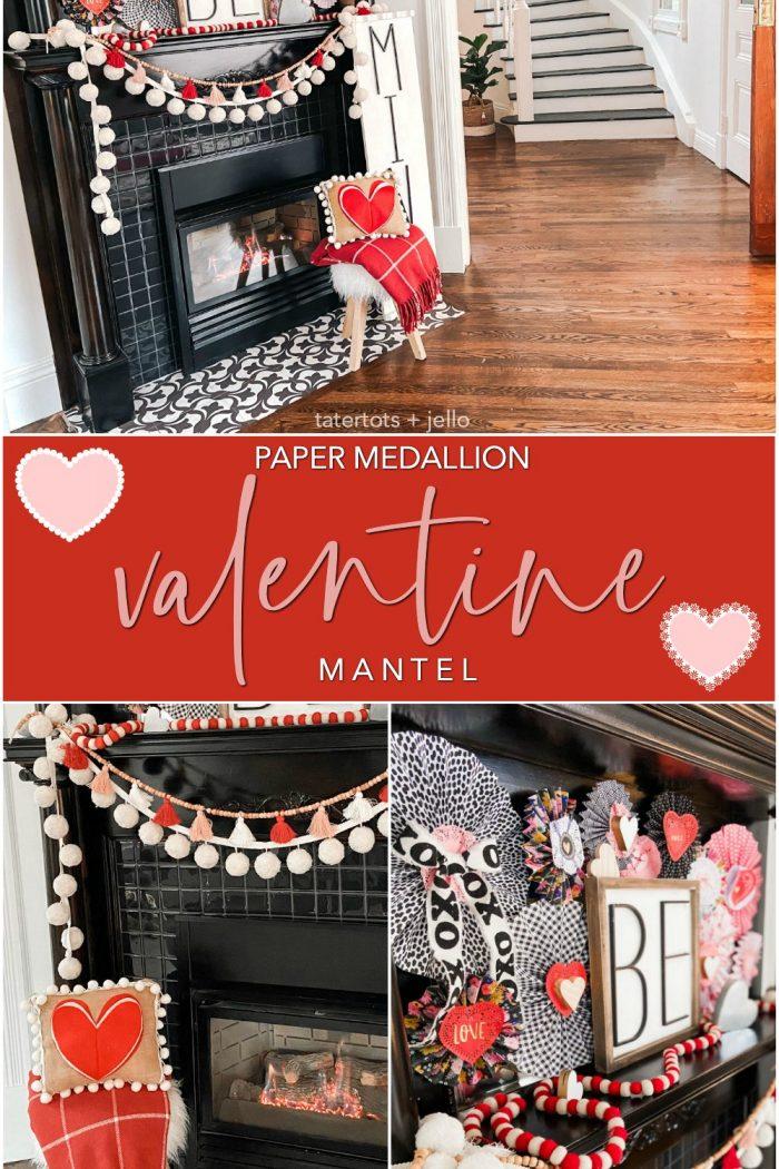 Valentine's Day Medallion Be Mine Mantel