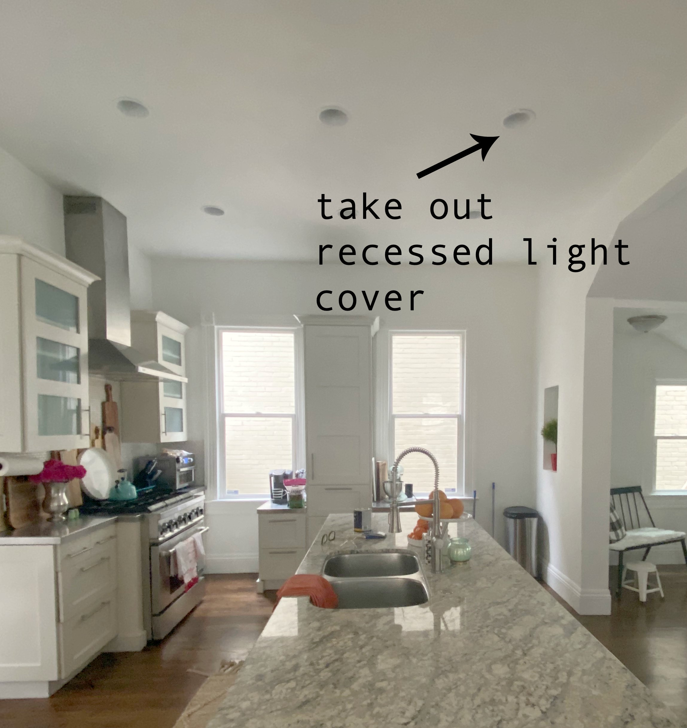 How to change recessed lights into pendant lights with no remodeling.