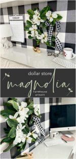 Dollar Store Magnolia Farmhouse Wreath