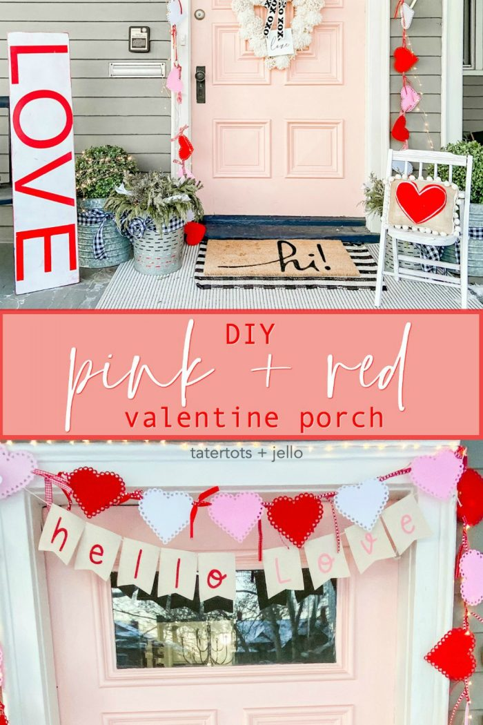 Pink and Red Valentine's Porch