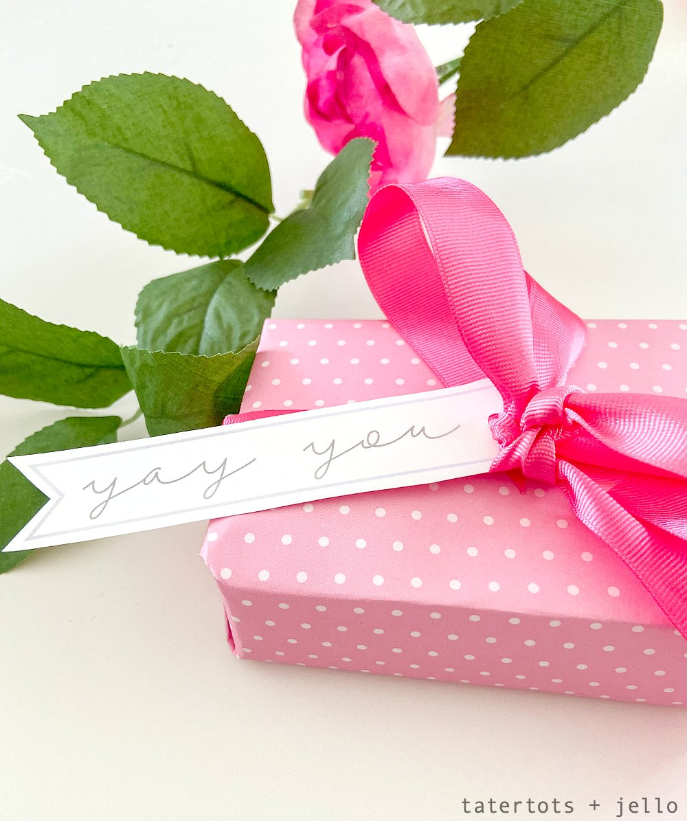 Simple All-Occasion Printable Gift Tags. Use scrapbook paper to wrap gift and add these simple printable tags for ALL occasions! They make gift-giving so easy!