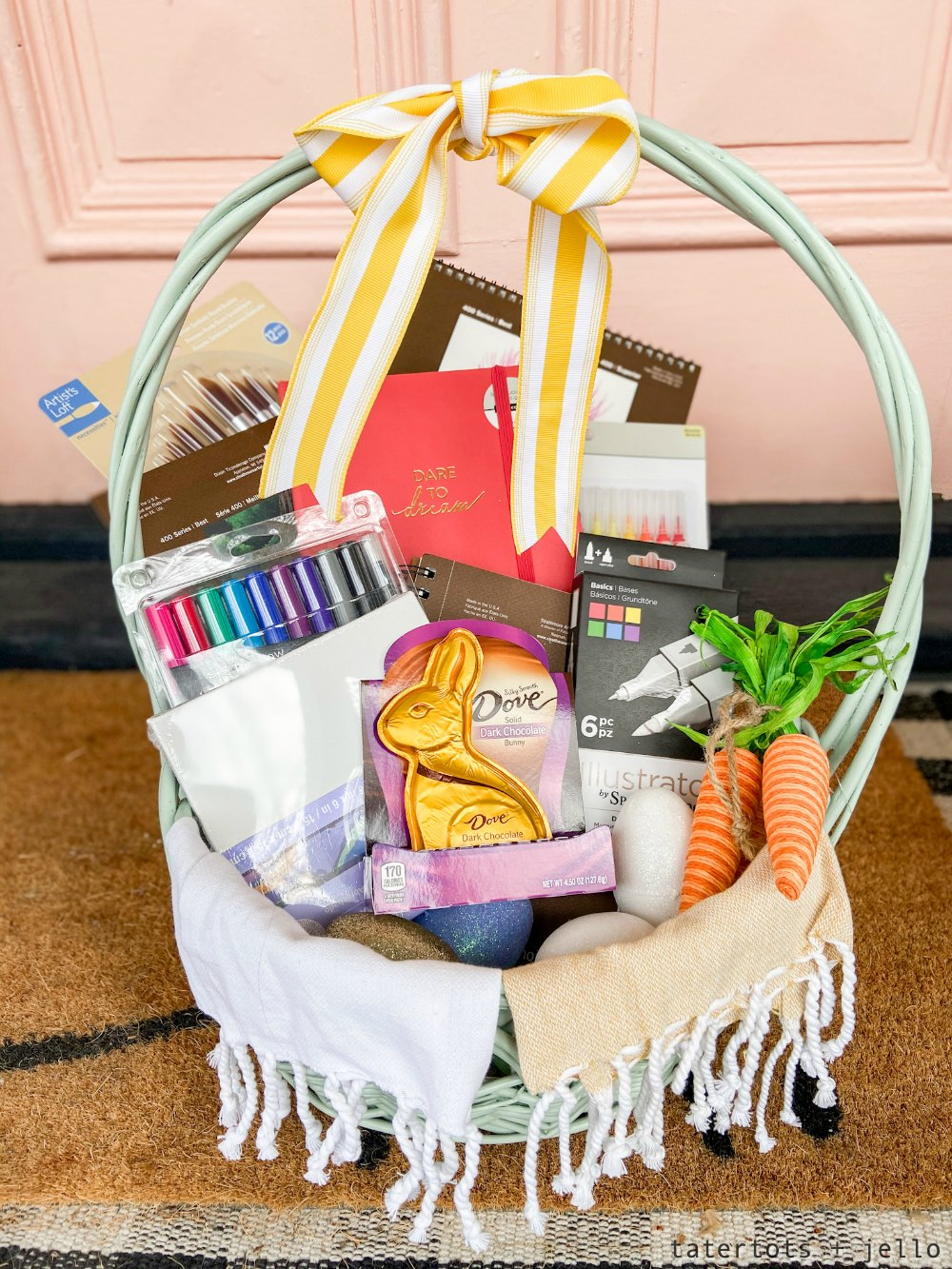 Easter Basket for the Creative Person in your Life! Fill a basket this Easter with useful art supplies that will provide hours of creative expression and joy for months to come!