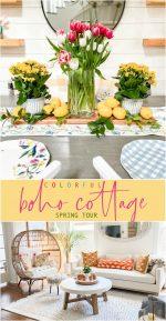 Colorful Boho Cottage Spring Tour