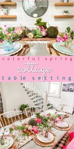 Colorful Spring Cottage Table Setting