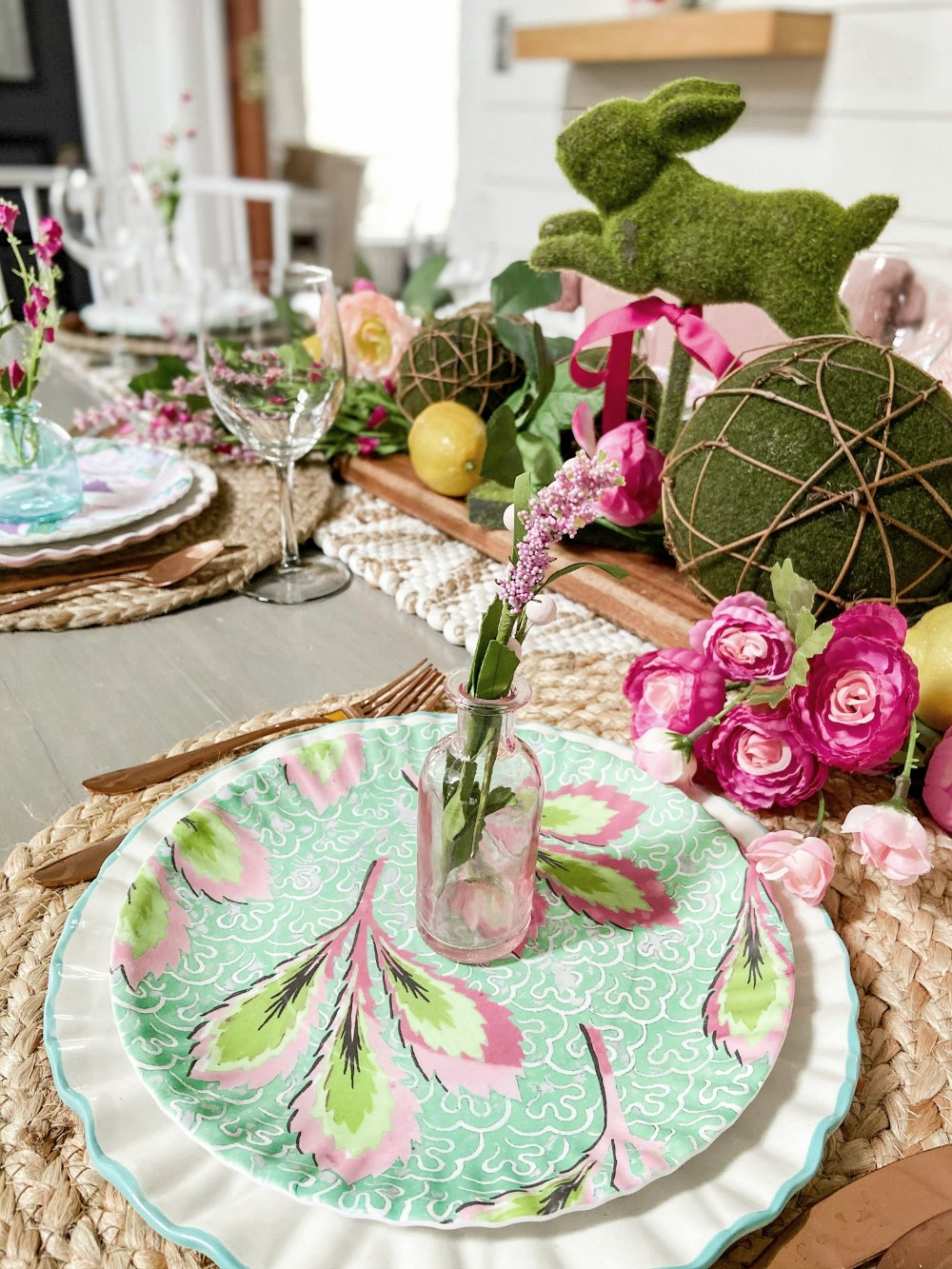 Colorful Cottage Spring Tablescape