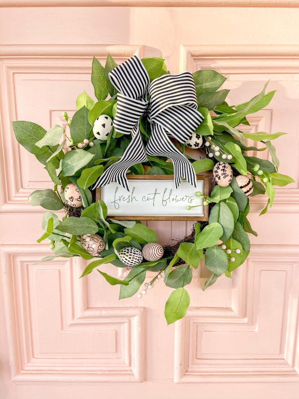 Spring Farmhouse Spring Egg Wreath