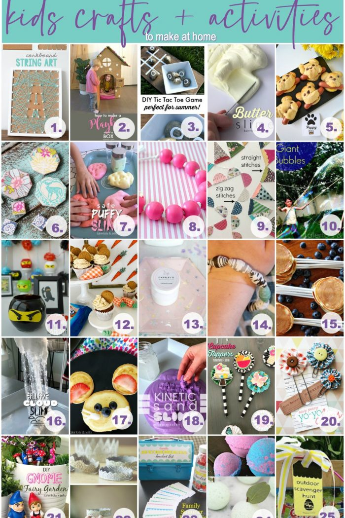 1 Month of Kids Crafts and Activities to do at Home