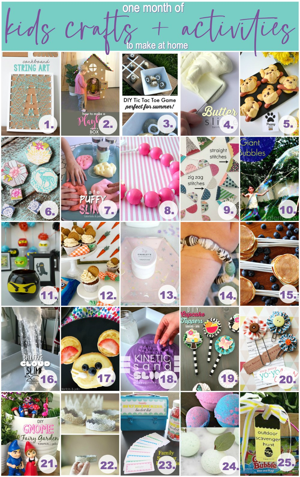 1 Month of Daily Kids Crafts and Activities to do at Home. Spend time at home creating fun and educational crafts, activities and memories with your kids - with easy Amazon shopping lists.