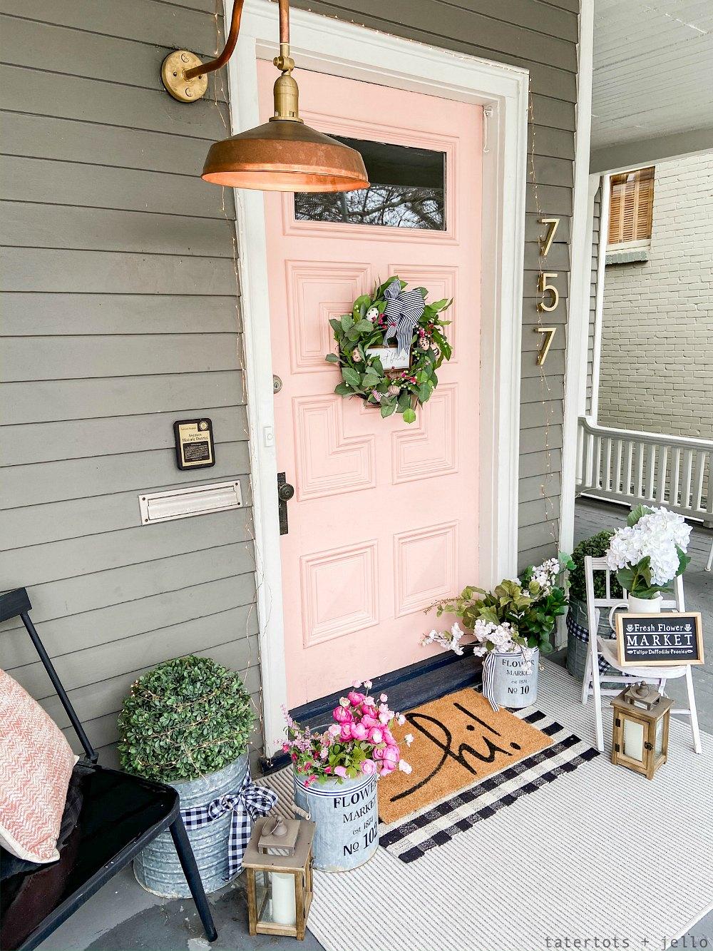 spring flower porch