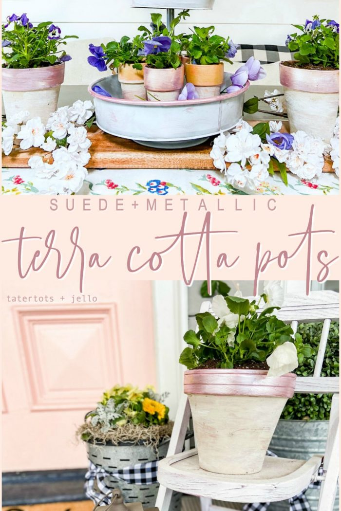Painted Spring Terra Cotta Pots Tutorial!
