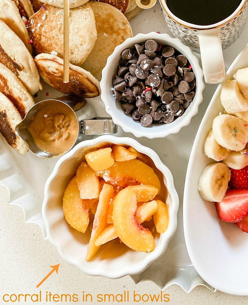 Create a Simple Pancake Charcuterie Board in Minutes! Celebrate a birthday, Mother's Day, Father's Day or special event with a breakfast-in-bed pancake board!