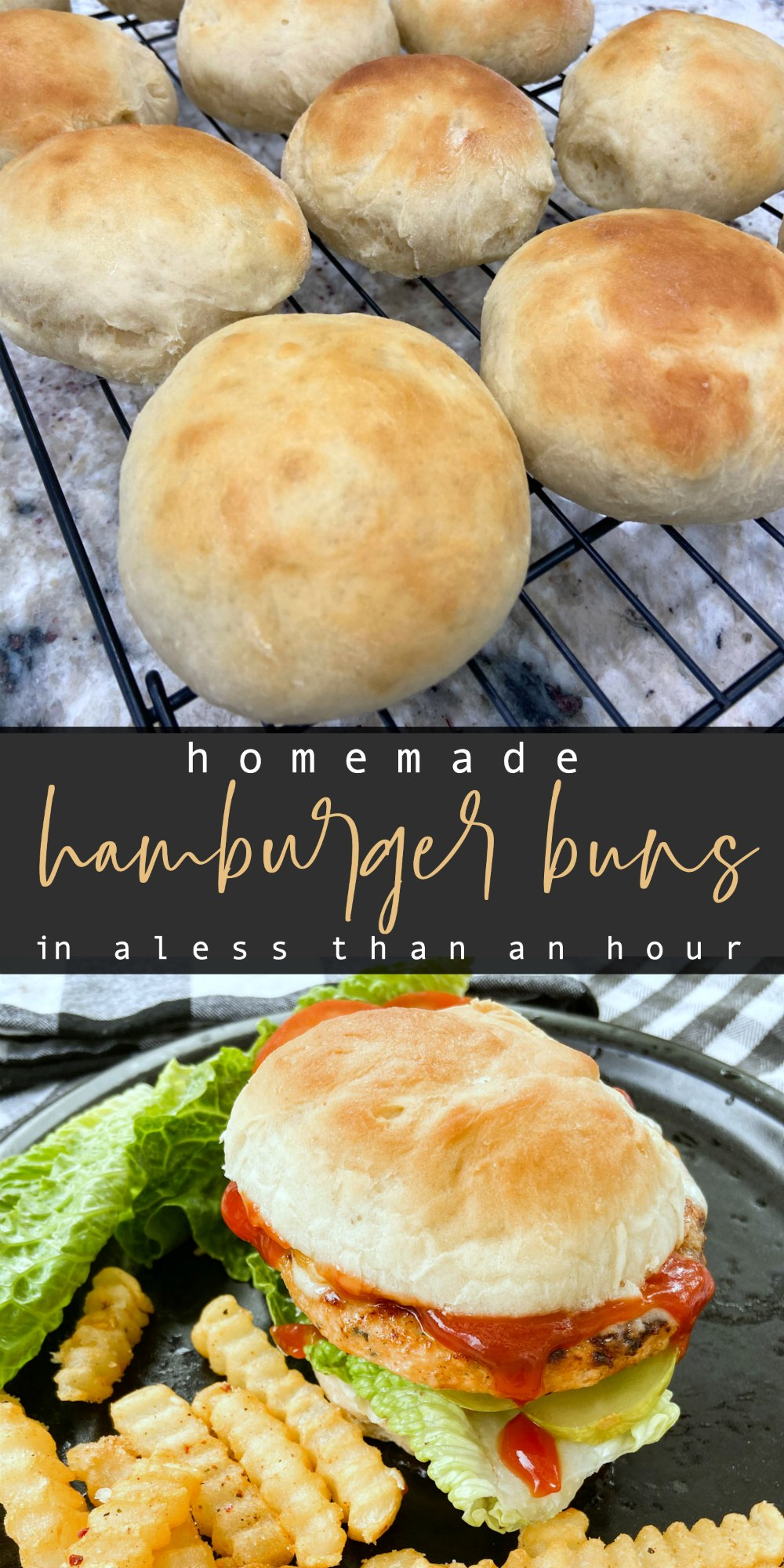 Homemade Hamburger Buns in less than an hour