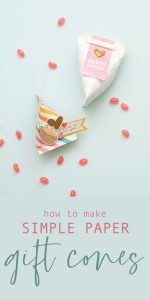 How to Make Simple Paper Gift Cones