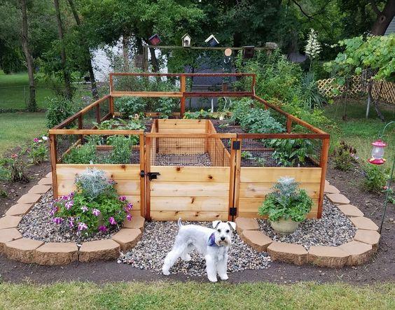 Raised planter garden from Wayfair
